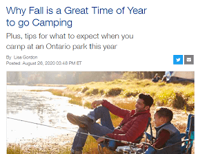 Why Fall is a Great Time of Year to Go Camping