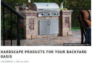 Hardscape Products for Your Backyard Oasis